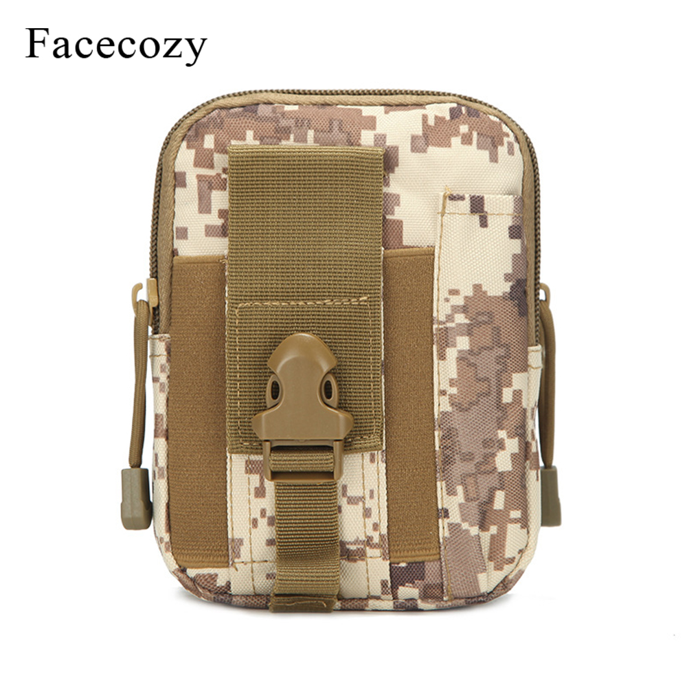 Facecozy Outdoor Sports Tactical Bag Belt Waist Pack Military Bag Hiking Climbing  Pocket Running Pouch Travel Daypack Wallet