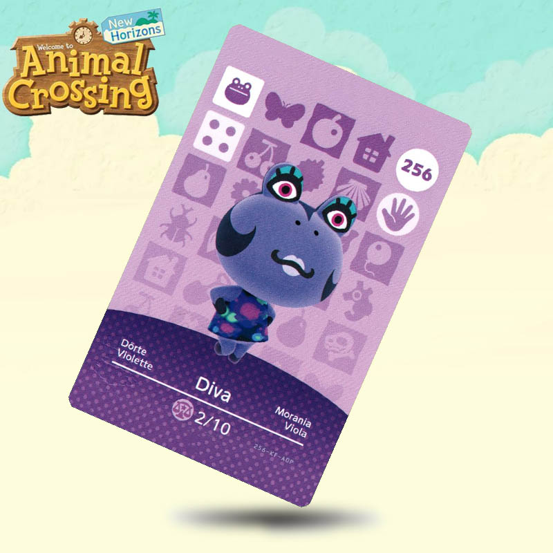 256 Diva Animal Crossing Card Amiibo Cards Work For Switch NS 3DS Games