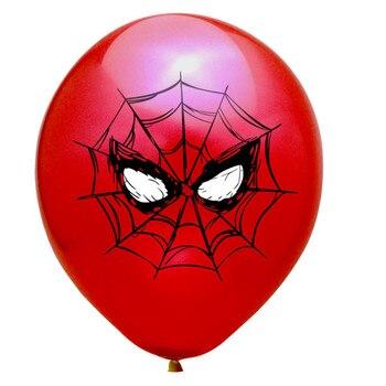 10pcs Super Hero Balloon Latex Balloons Spiderman Kids Spider man Birthday Party Decoration Baby Shower Balloons 23