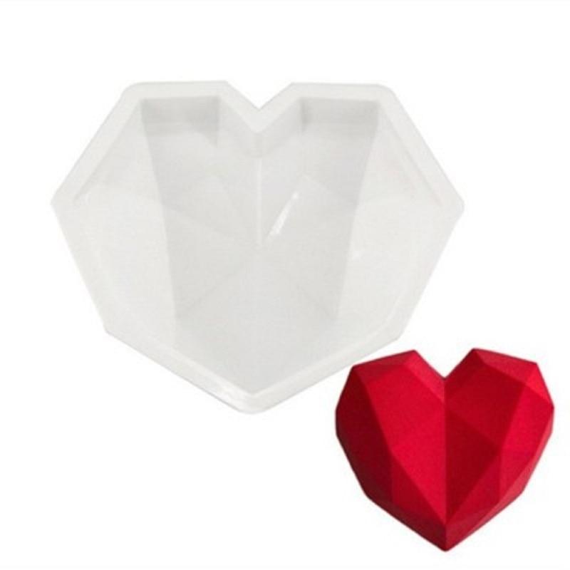 Silicone 3D Heart Shape Fondant Cake Chocolate Baking Mold Mould Modelling DIY