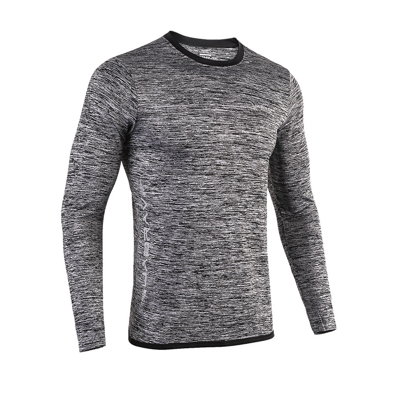 NEW Autumn Running Shirts For Men Long Sleeve Casual Skinny T-shirts Gym Tops Breathable Quick Dry Fitness Sportswear Tees S-2XL