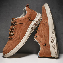 Shoes Pig-Skin-Leather Canvas Luxury Leisure Mens Man Rubber Slip for Male Resistent