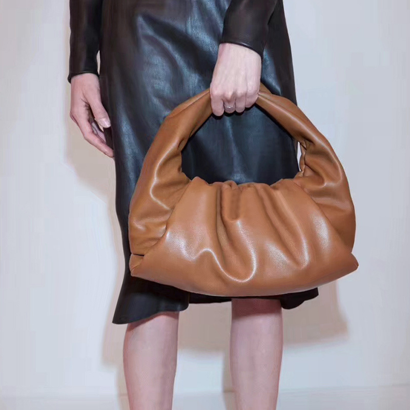 Women Pleated Bagette Bag Designer