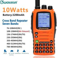 Wouxun KG UV9D Mate 7bands/Air Band 10 W 3200mAh Battery Cross band Repeater Portable Radio Upgrade KG UV9D Plus Walkie Talkie