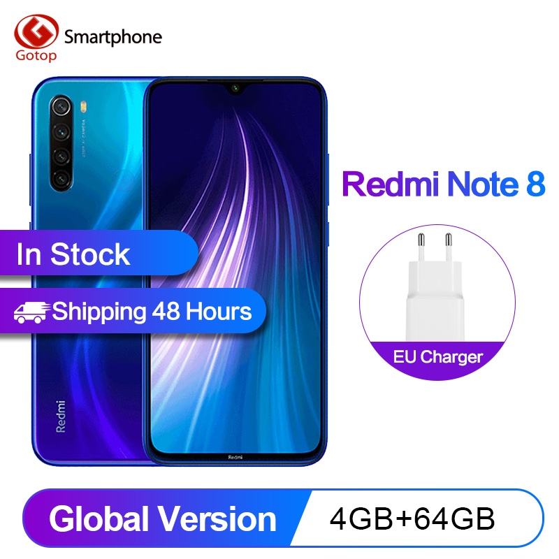 In Magazzino Xiaomi Redmi Nota 8 Globale versione 4GB 64GB Smartphone celular 48MP Telecamere Snapdragon 665 6.3FHD 4000mAh 18W 4K Video