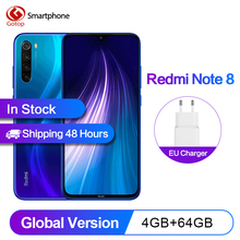 In Stock  Xiaomi Redmi Note 8 Global version 4GB 64GB Smartphone celular 48MP Cameras Snapdragon 665 6.3FHD 4000mAh 18W 4K Video