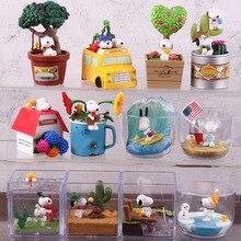 Тапочки в виде персонажа аниме Woodstock Happy Террариум арахис на природе Собака ПВХ, движущаяся фигурка, Коллекционная модель, игрушка для малыша 6 шт./компл
