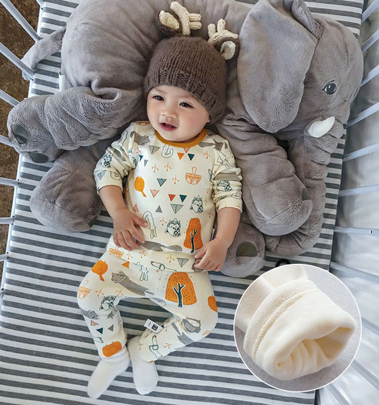 Autumn Children Clothing Home Clothes Thick CHILDREN'S Pajamas Autumn And Winter Korean-style CHILDREN'S Sleepwear Baby Thermal