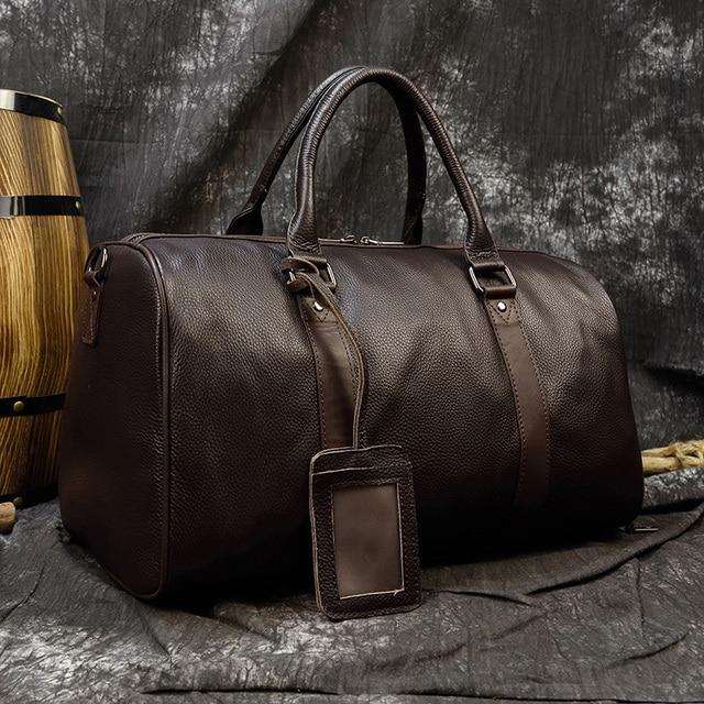 Soft Genuine Leather Travel Bag
