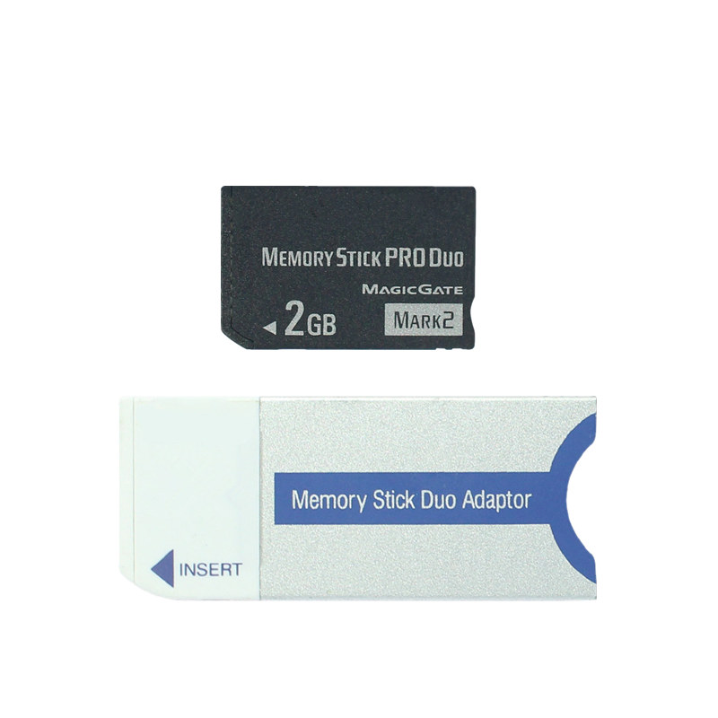 Original!!! 2GB Memory Stick Pro Duo Card Memory Card MS Card With Memory Stick Converter/ Adapter For PSP