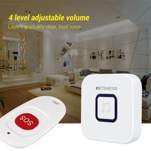 Retekess Wireless Caregiver Pager SOS Call Button Nurse Calling Alert Patient Help System