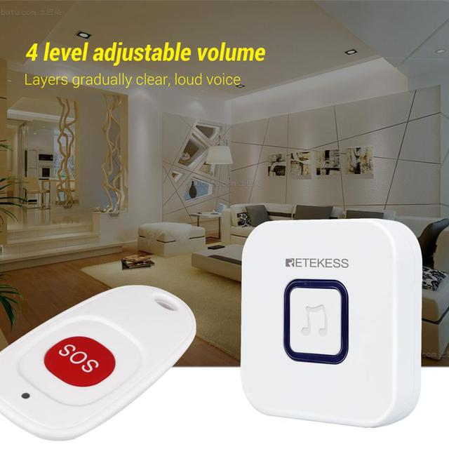 Retekess Wireless Caregiver Pager SOS Call Button Nurse Calling Alert Patient Help System
