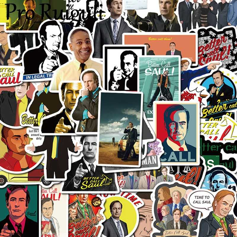 50pcs  better call saul Movie style stickers for party gift badges decorative