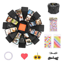Explosion Gift Box DIY Photo Black Paper Surprise Unique Design Birthday Party Creative Fashion
