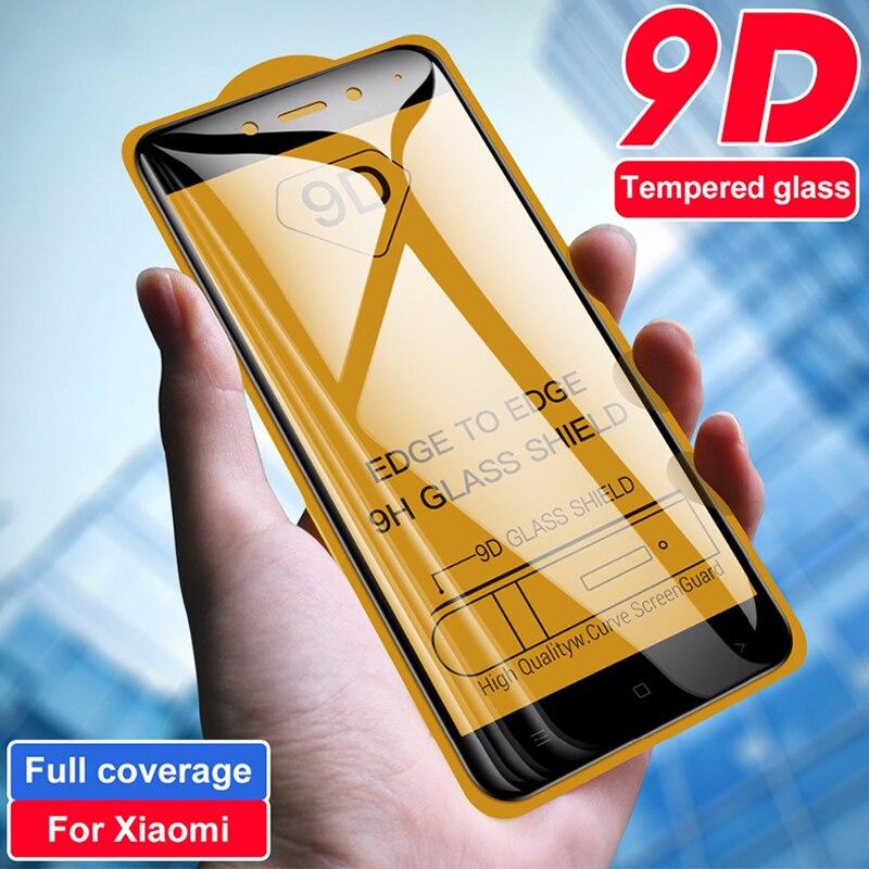 9D Coverage Full Coverage Tempered Glass For Redmi Note 4 4X Xiaomi Mi 6 All Glue Screen Protector For Redmi Note 5 6 7 Pro