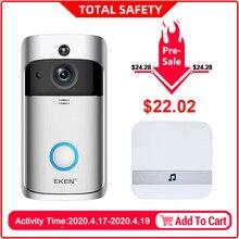 EKEN V5 Video Türklingel Smart Wireless WiFi Sicherheit Tür Glocke Visuelle Aufnahme Home Monitor Nachtsicht Intercom tür telefon
