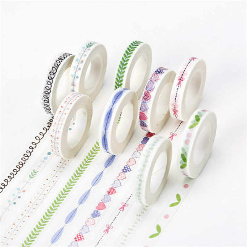 1pcs Lovely Washi Tape Scrapbooking DIY Label High-quality Shine Cartoon Pretty Sticker Masking Tape School Office Supply