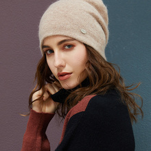 Winter Hats Bonnet-Cap Beanies Rabbit-Hair Autumn Girl Women High-Quality Soft-Wool-Hat