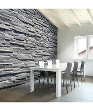 Papier peint - Mur de pierre grise-350x270-350x270