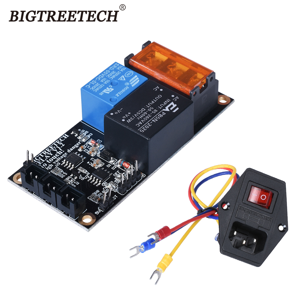 BIGTREETECH Relay V1 2 Automatic Shut Down Module 10A 250V Power Switch 3D Printer Parts For SKR V1 3 CR10 Extruder