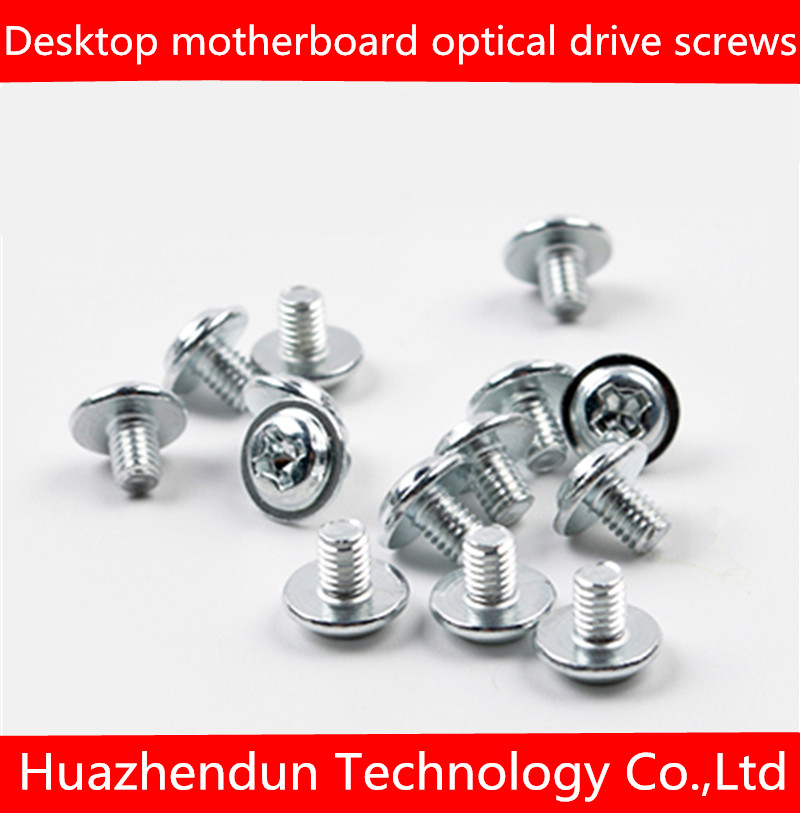 Desktop motherboard optical drive screws SSD shelf fixing screws computer repair with pad screws 1000pcs