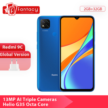 "In Stock Global Version Xiaomi Redmi 9C 9 C Cellphone 32GB 64GB 13MP Triple Cameras 6.53"" Smartphone Helio G35 Octa Core 5000mAh"