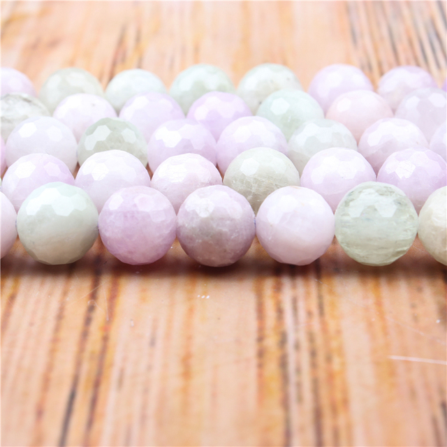 Оптовая продажа, фиолетовые бусины Lihui из натурального драгоценного камня, граненые круглые бусины, браслет, ожерелье, серьги, сделай сам