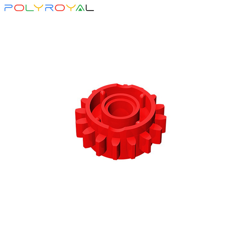 lego red technic gear 16 tooth with clutch on both sides 18946 ,10 parts