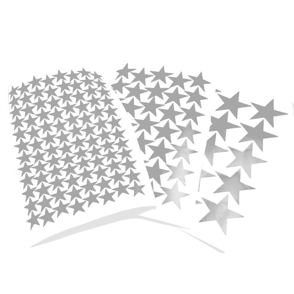 Настенные Стикеры с серебристыми звездами, 3/5/7 см, декор для детской комнаты, виниловая матовая наклейка для самостоятельного декора стен, н...