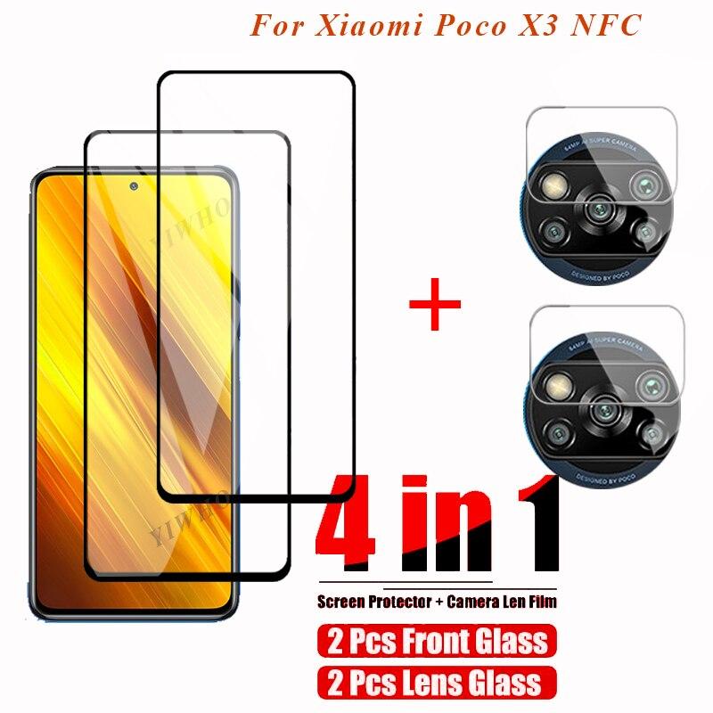 4in1 für xiaomi wenig x3 nfc Coque kamera schutz glas für xiaomi poco x3 nfc x3 poco x 3 pocox3 pocophonex3 kamera glas