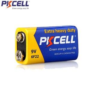 Image 4 - PKCELL batería Extra resistente de carbono de Zinc, 9 V, 6F22, igual a CR9V, ER9V, 6LR61, para termo electrónico, 4 Uds.