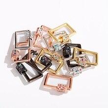 Квадратные бусины мода женщин делает ожерелье ювелирные изделия геометрические Медный винт застежками подвески аксессуары