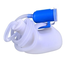 N7ME Men Reusable Pee Jug Male Urine Bottle Tube with Lid Portable Thicken Men's Potty 2000m l for Hospital Camping Car Trave