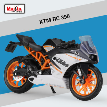 Maisto 1:18 Diecast 450 SX-F RC 390 640DUKE II Alloy Metal Motorcycle Road Racing Model image