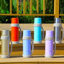 Outdoor sports bottle Large capacity 1.2L stainless steel double vacuum cups Car travel pot
