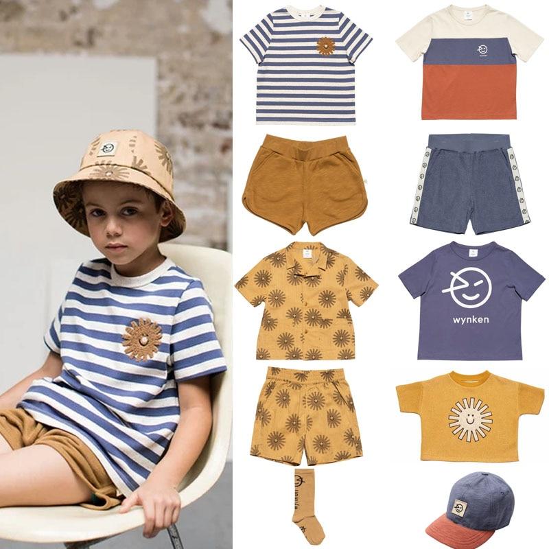 2020 Wyn Brand New Summer Kids T Shirts For Boys Firls Sun Print Short Sleeve T Shirt Baby Children Fashion Cotton Tops Clothes