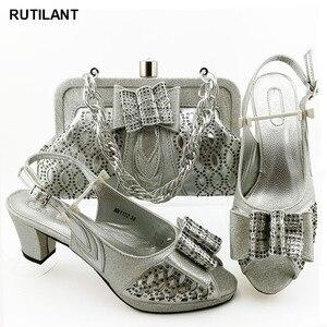 Image 1 - הגעה חדשה נעליים איטלקיות עם שקיות התאמה באיכות גבוהה מעצב נעלי נשים יוקרה 2020 ניגרי נעליים סטי שקית
