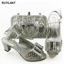 ¡Novedad! Zapatos italianos con bolsos a juego, zapatos de diseñador de alta calidad, zapatos de mujer de lujo 2020 nigerianos a juego, zapatos y conjuntos de bolsos