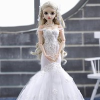 Ball Jointed Dolls with Wedding dress