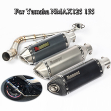 Motorcycle Full Exhaust System Pope For Yamaha NMAX125 155 Front Connect Tube Exhaust Muffler Pipe With DB Killer Slip On Escape