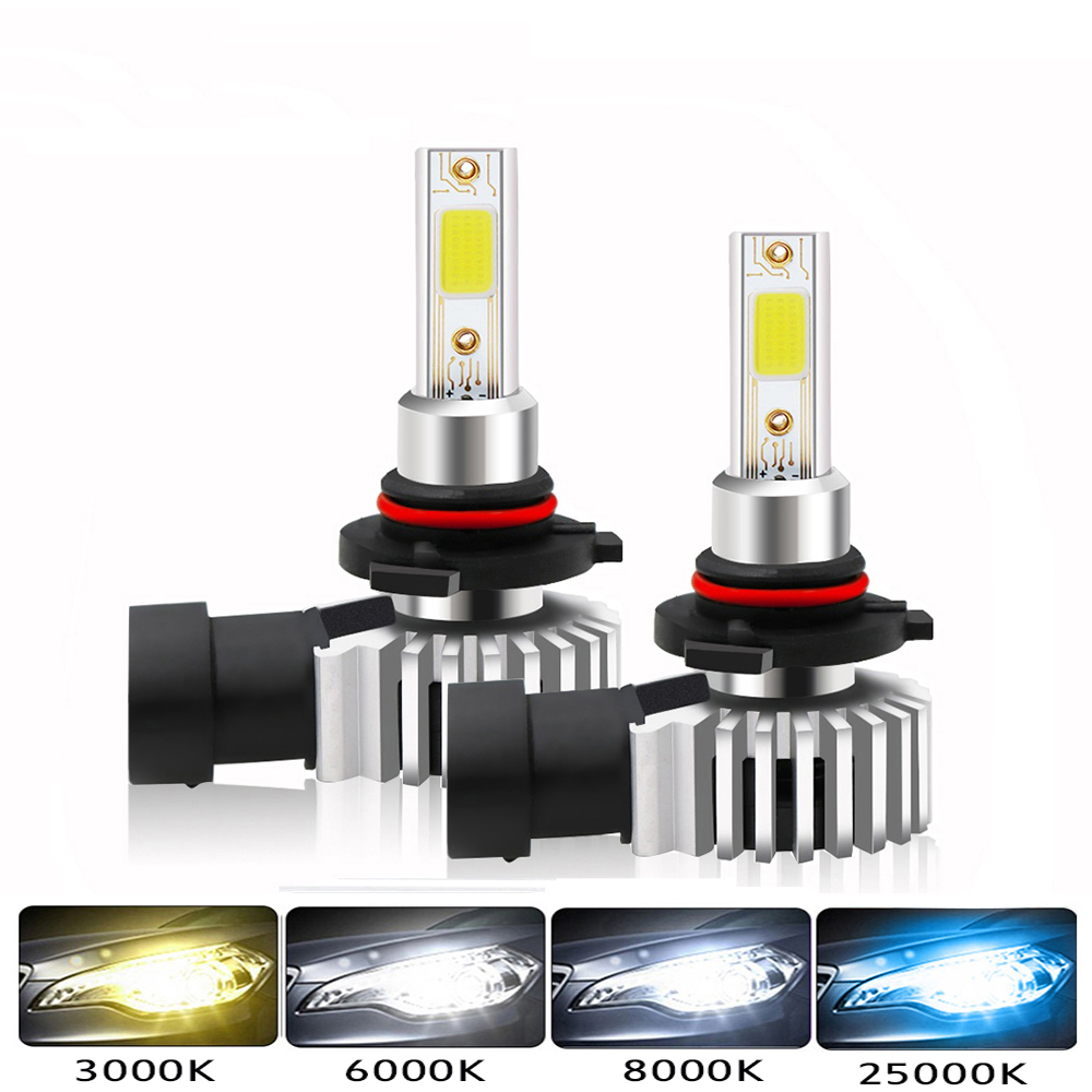 2Pcs H4 LED H1 H3 H7 H11 H8 H9 H27 880 881 9005 HB3 9006 HB4 Led Headlight Bulbs 60W 12000LM Car Styling 6000K Fog Light