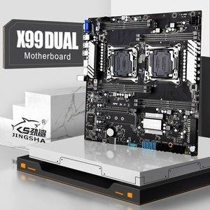 JINGSHA X99Dual Процессор LGA 2011-3 материнская плата поддерживать Ксеон E5 V3 V4 процессоров серии DDR4 2400 МГц ECC REG Оперативная память и настольных компью...