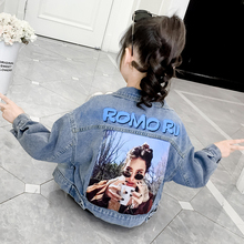 цены Autumn Kids Denim Jacket Short Style Casual Toddler Girls Cardigan Jean Outfits Jackets Coat Teenage Girl Denim Clothes Tops 12