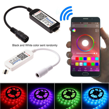5M 10M 15M LED Strip RGB 5050 SMD Flexible Ribbon fita led light strip RGBTape Diode DC 12V + Bluetooth Control +Adapter 1
