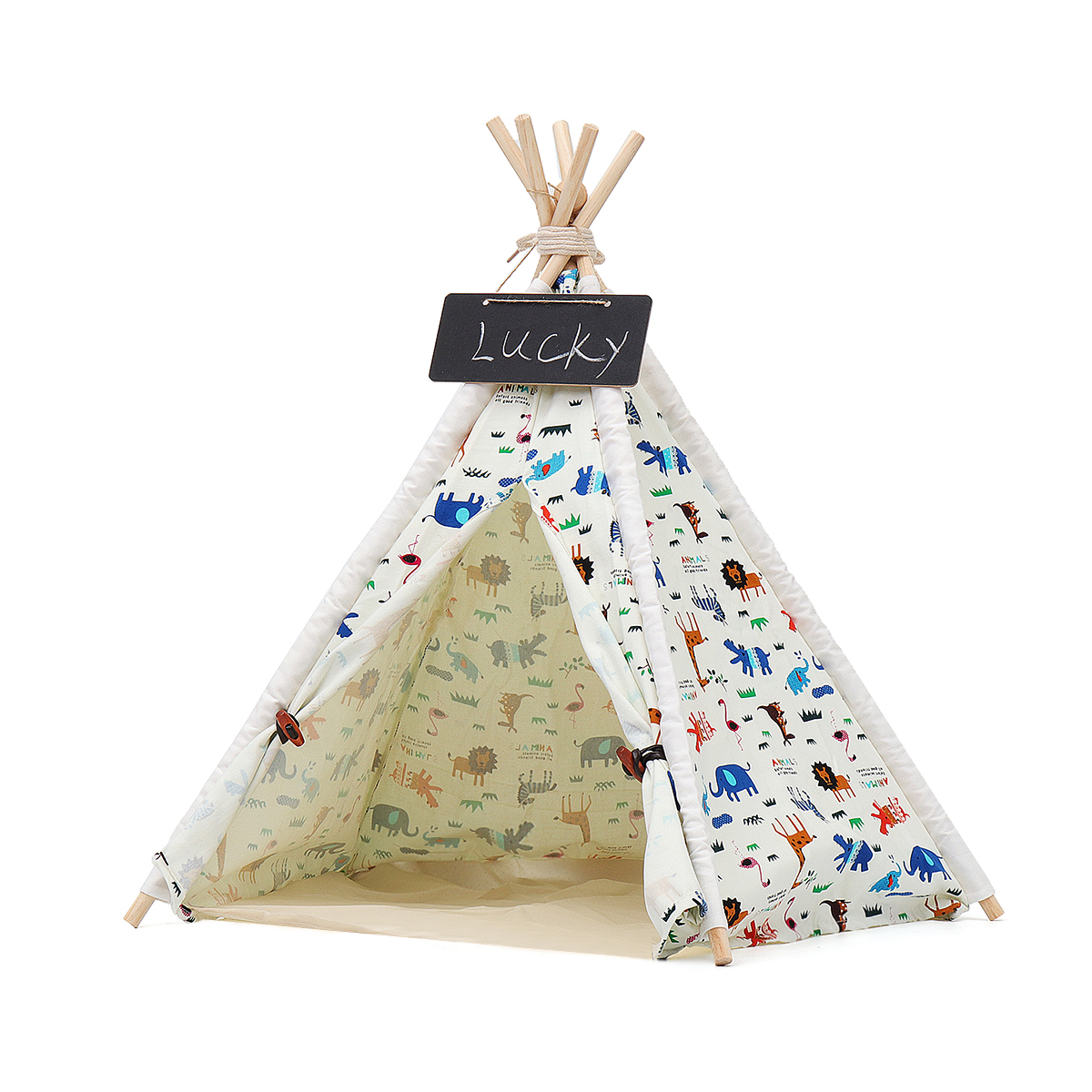 Folding Pet <font><b>Dog</b></font> House <font><b>Kennels</b></font> Washable Tent Puppy Cat Bed Indoor Outdoor Home Playing Teepee Tipi <font><b>Dog</b></font> Supplies Portable S/M/L image