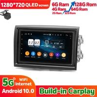 Radio Estéreo 128GB Rom para coche, unidad principal de navegación GPS Multimedia, Android 10, para PEUGEOT, Boxer, FIAT, Ducato, CITROEN Jumper
