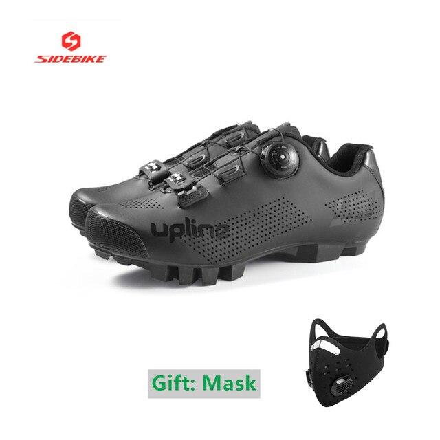 Tênis ultra-leve para ciclismo mtb, calçado feminino e masculino para mountain bike, autotravamento, respirável, frete grátis sapatos com calçados 1