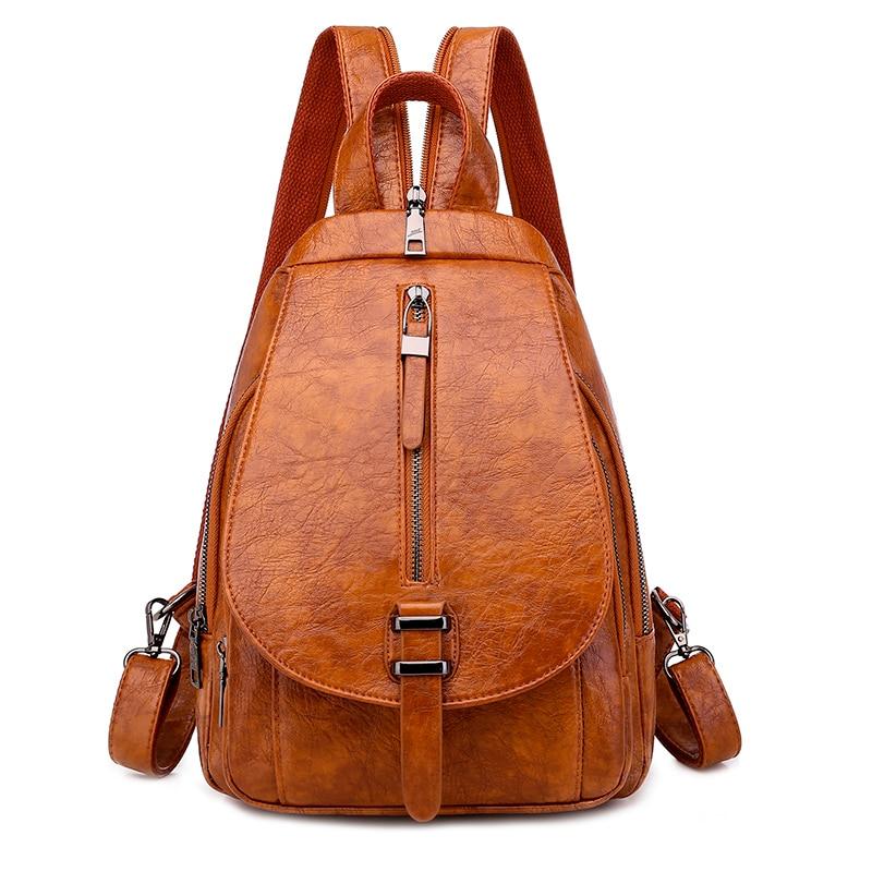 2020 Travel Shoulder Bag School Backpacks For Teenage Girls Sac A Dos Women Leather Backpacks High Quality Ladies Bagpack New