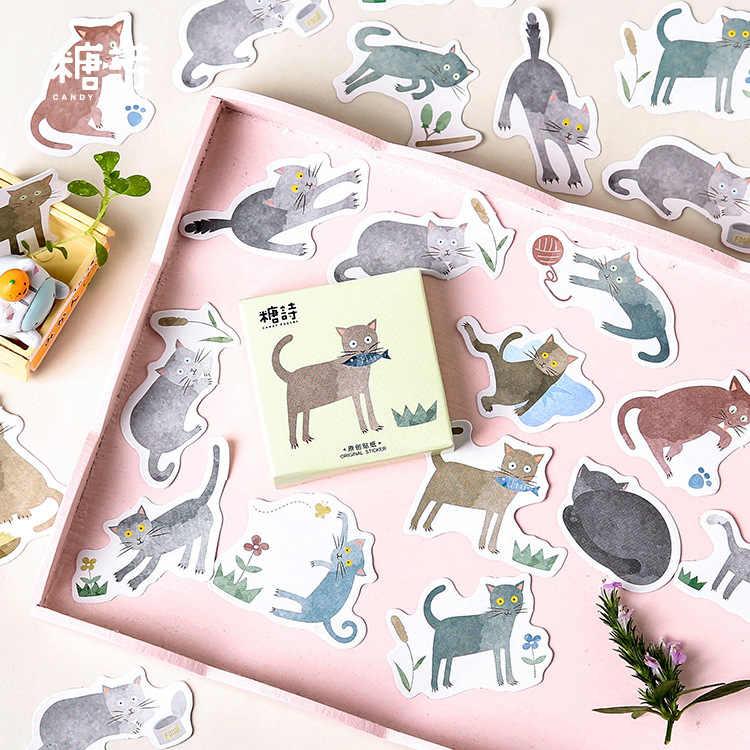 45 Pcs Cute Memo Pad Mini Kertas Stiker Dekorasi Stiker DIY Album Scrapbooking Segel Stiker Kawaii Stationery Hadiah Posting