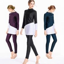 Muslim Swimwear Beachwear Long-Sleeve Burkinis Islam Plus-Size Women 4XL